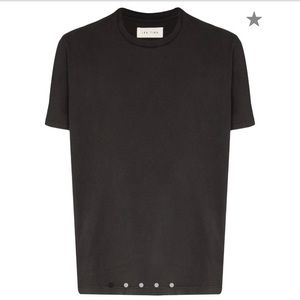 Les Tien Black 100% Cotton T Shirt Size Small